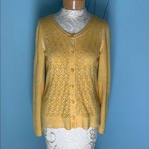 Anthropologie Sparrow Pointelle Cardigan Sweater M